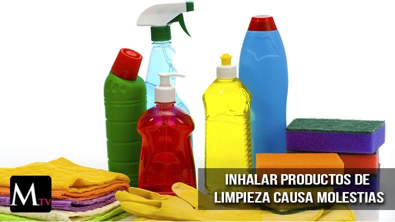 Inhalar productos de limpieza causarían molestias