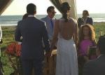 Doménica Saporiti celebró su matrimonio