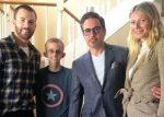 Los Vengadores visitaron a un niño con cáncer