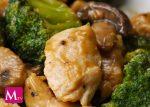 Pollo con Broccoli y Champiñones salteados