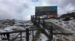 Parque Nacional Cajas lleno de Granizo
