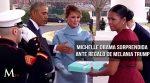 Michelle Obama muy sorprendida ante regalo de Melania Trump