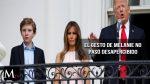 Melania salvó a Donald Trump de un bochornoso momento