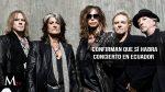 Aerosmith si presentará su concierto en Ecuador