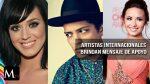 Artistas internacionales se pronunciaron tras el atentado