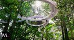 Un parque que flota entre los árboles