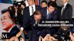 El guardespaldas del presidente de Corea del Sur, llama la atención.