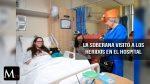La Reina Isabel II visita a los heridos del terrorismo en el hospital