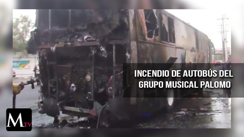 El autobús de un grupo musical se incendió