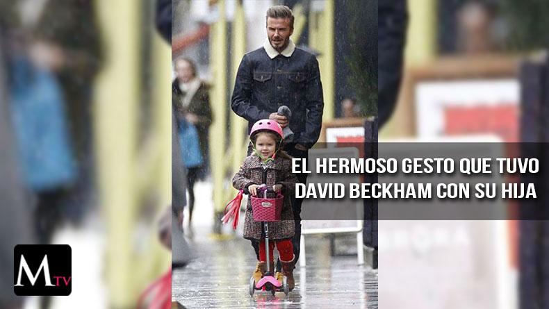David Beckham le construyó un castillo para su hija