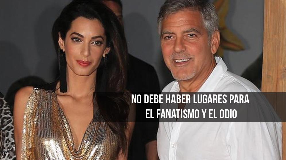 George Clooney y esposa toman iniciativa en contra del racismo George.