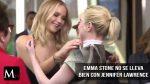 Emma Stone parece que rechazó un abrazo de Jennifer Lawrence