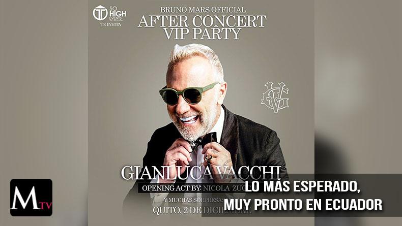 Gianluca Vacchi viene a Ecuador