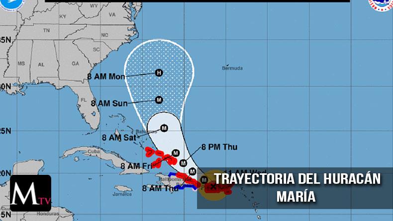 Trayectoria del huracán María y famosos solidarizados