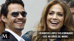 Marc Anthony acompañado de Jennifer Lopez y de su actual pareja