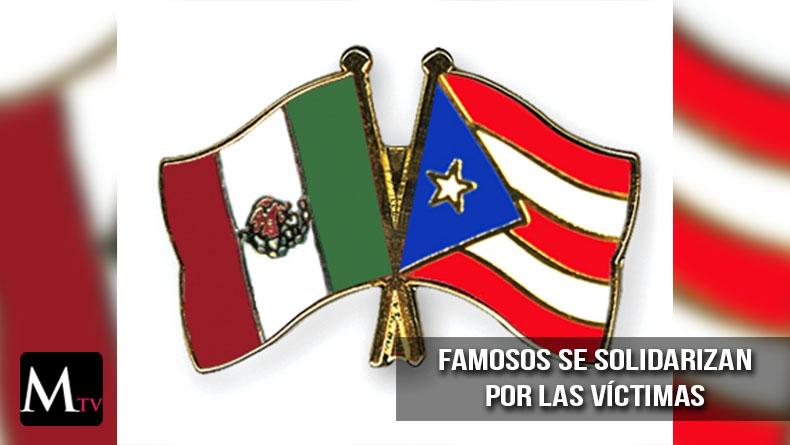 Los famosos se solidarizan con Puerto Rico y México