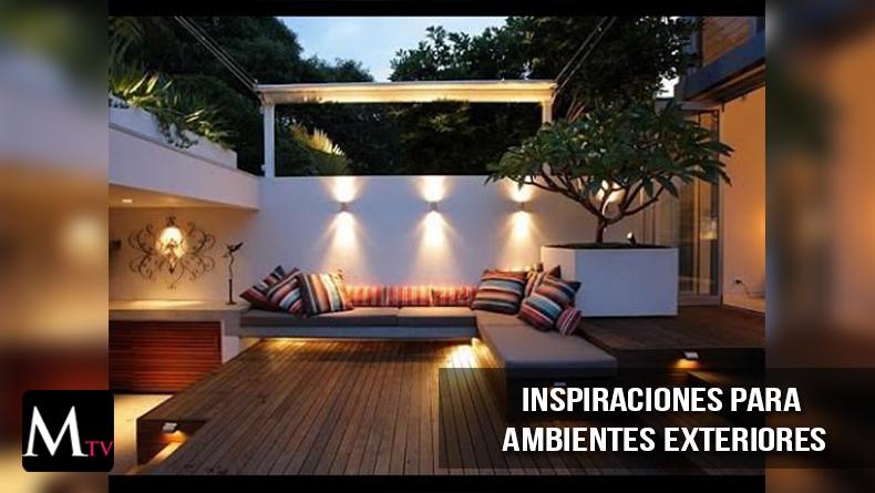 Inspiraciones para ambientes exteriores mariela tv for Sala de estar en el patio