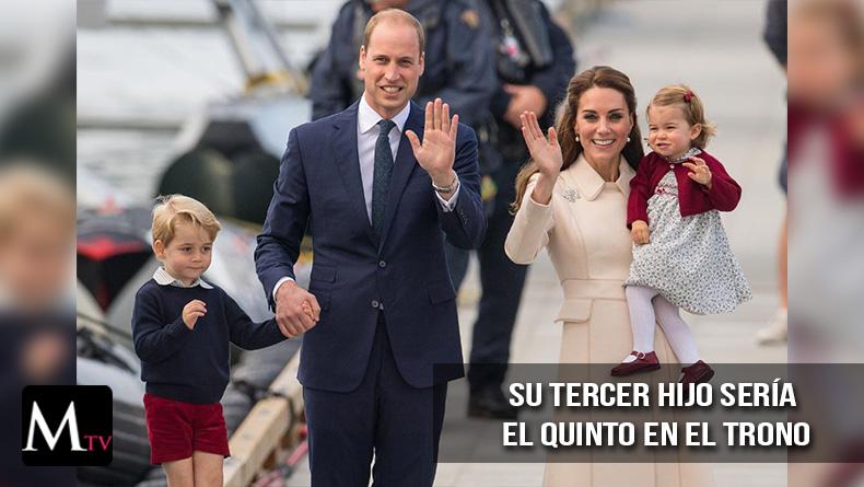 La Duquesa de Camdridge traería al mundo a su tercer hijo en Abril