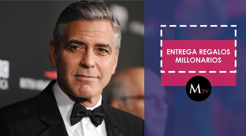George Clooney hace regalos millonarios a sus mejores amigos