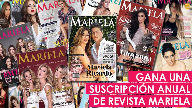 GANA UN AÑO DE SUSCRIPCIÓN A REVISTA MARIELA