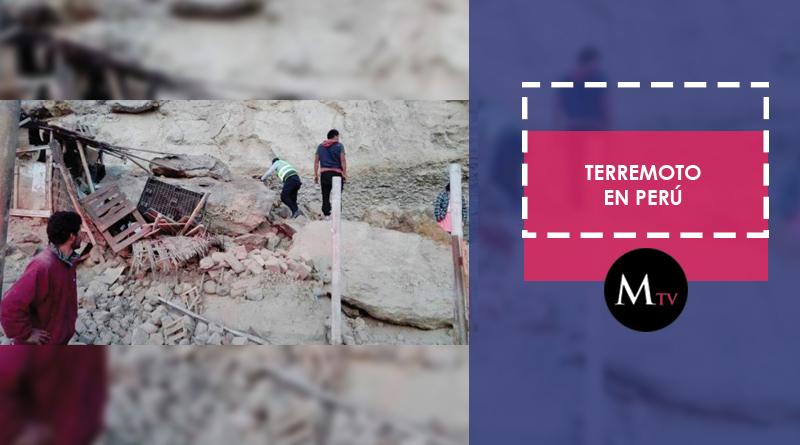 Terremoto azota a Perú dejando muertos y heridos