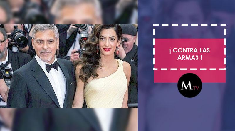 George Clooney se une a las filas de la marcha contra las armas