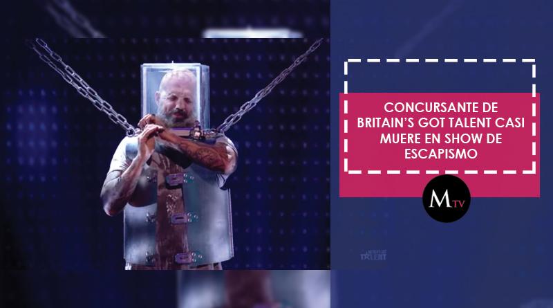 Concursante casi muere en vivo con un truco de escapismo en Britain's Got Talent