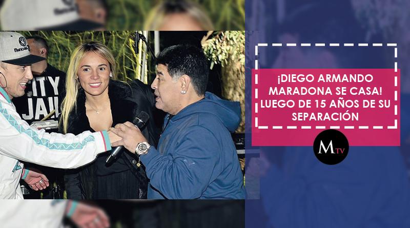 Después de 15 años Diego Armando Maradona se volverá a casar