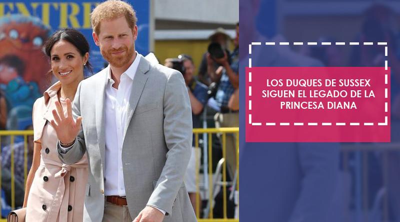 El príncipe Harry y Meghan Markle continúan el legado de la princesa Diana