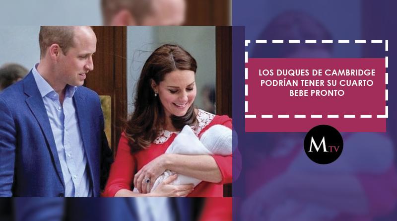 Los Duques de Cambridge podrían tener su cuarto bebe pronto