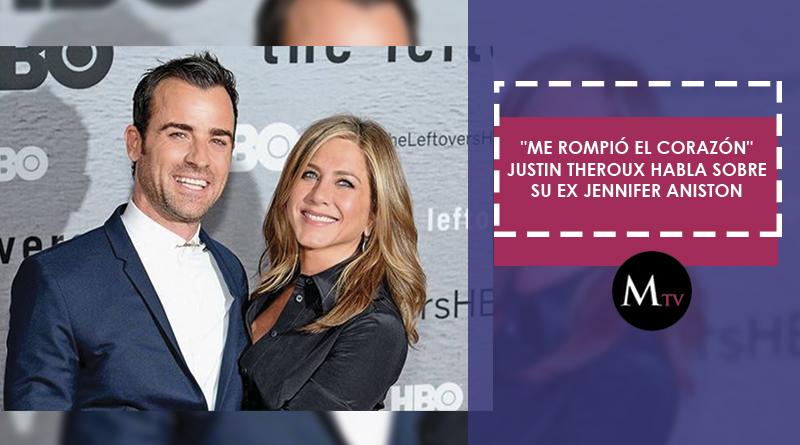 """Me rompió el corazón"" Justin Theroux habla sobre su ex Jennifer Aniston"