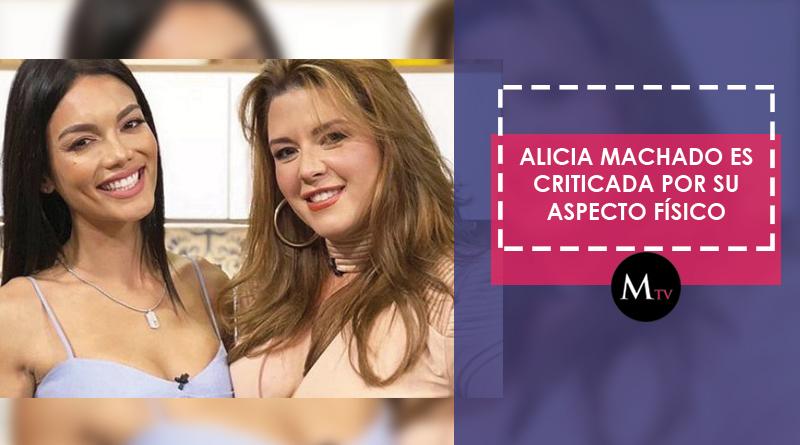 Alicia Machado es criticada por su aspecto físico