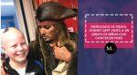 Disfrazado de pirata, Johnny Depp visitó a un grupo de niños con cáncer en París
