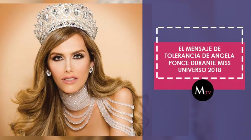 El mensaje de tolerancia de Angela Ponce durante Miss Universo 2018