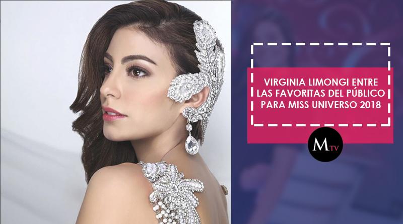 Virginia Limongi entre las favoritas del público para Miss Universo 2018
