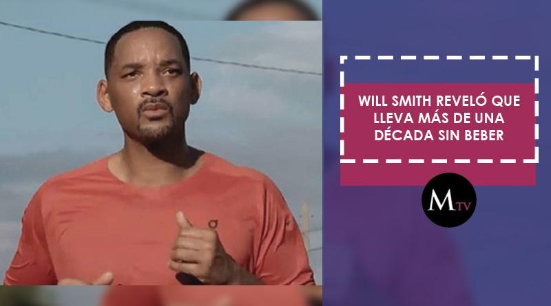 Will Smith reveló que lleva más de una década sin beber