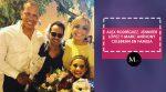 Alex Rodríguez, Jennifer López y Marc Anthony celebran en familia