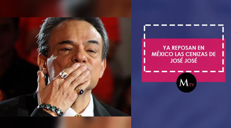 Ya reposan las cenizas de José José en México