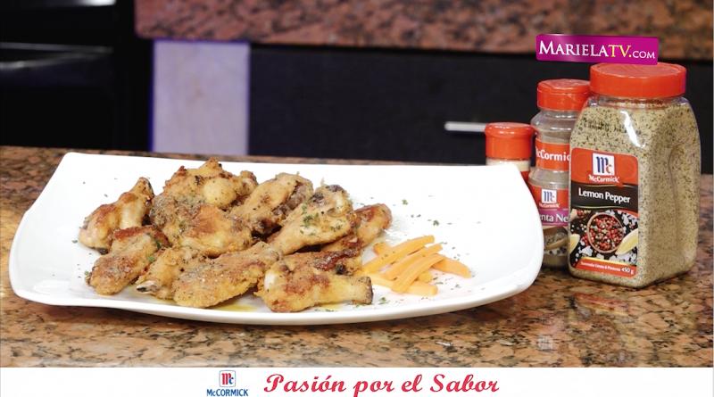 """Alitas Lemon&Pepper"" con productos McCormick – Tutoriales Mariela TV"