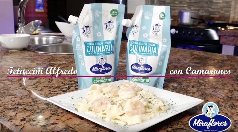 """""""Fetuccini Alfredo con Camarones"""" – Tutoriales MarielaTV"""