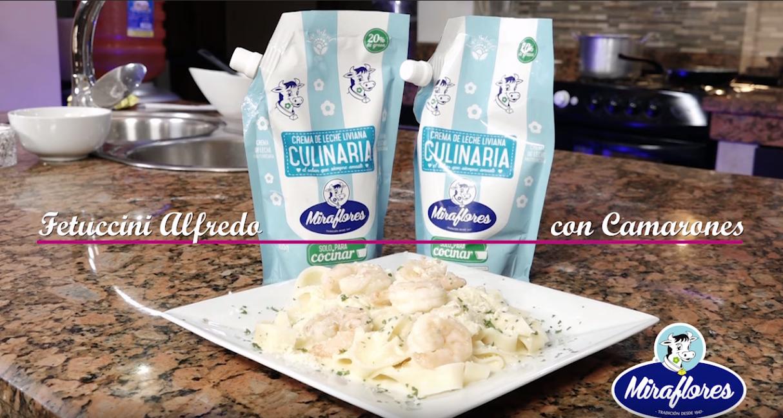 «Fetuccini Alfredo con Camarones» – Tutoriales MarielaTV