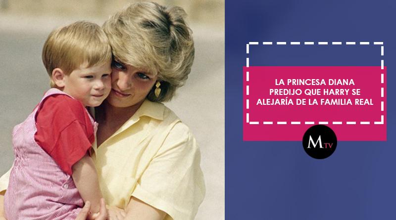 La princesa Diana predijo que Harry se alejaría de la familia real