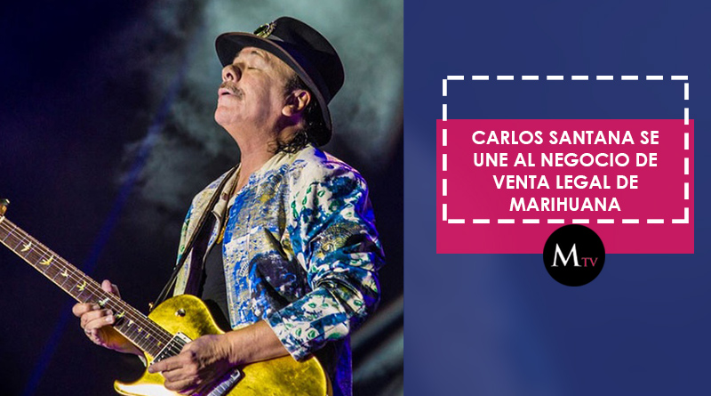 Carlos Santana se une al negocio de venta legal de marihuana
