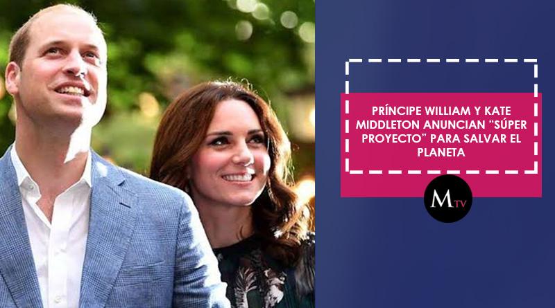 """Príncipe William y Kate Middleton anuncian """"súper proyecto"""" para salvar el planeta"""