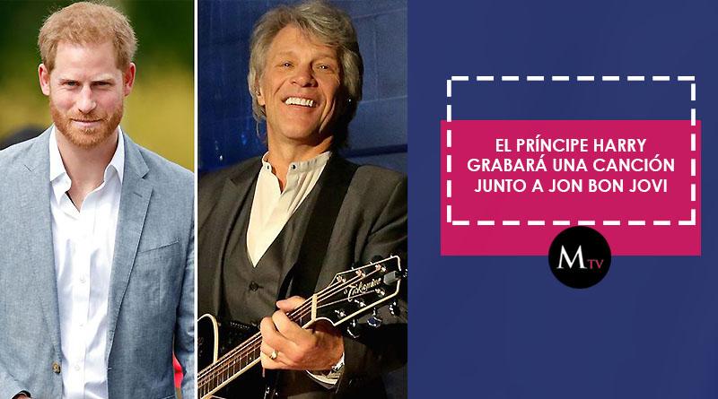 El príncipe Harry grabará una canción junto a Jon Bon Jovi