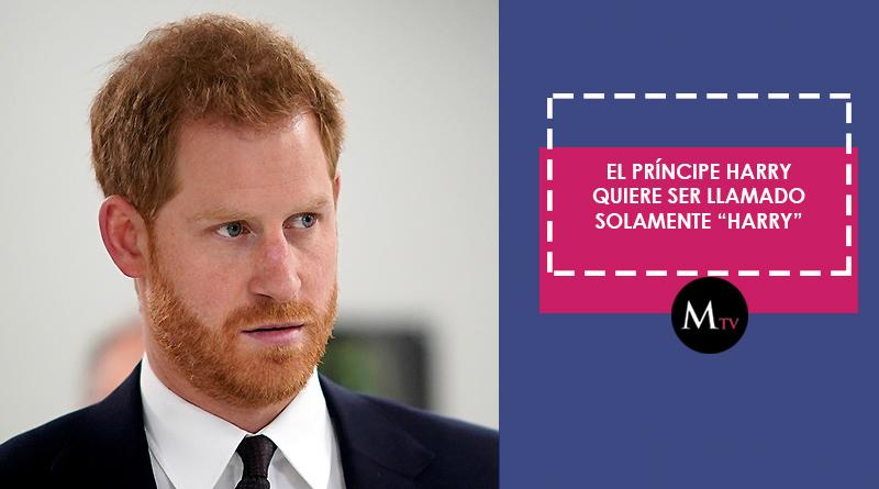"""El príncipe Harry quiere ser llamado solamente """"Harry"""""""