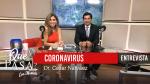 «Coronavirus: Síntomas y Prevención» con el Dr. César Narváez en ¿Qué Pasa? con Mariela