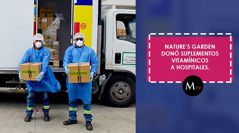 Nature's Garden donó suplementos vitamínicos a Hospitales.