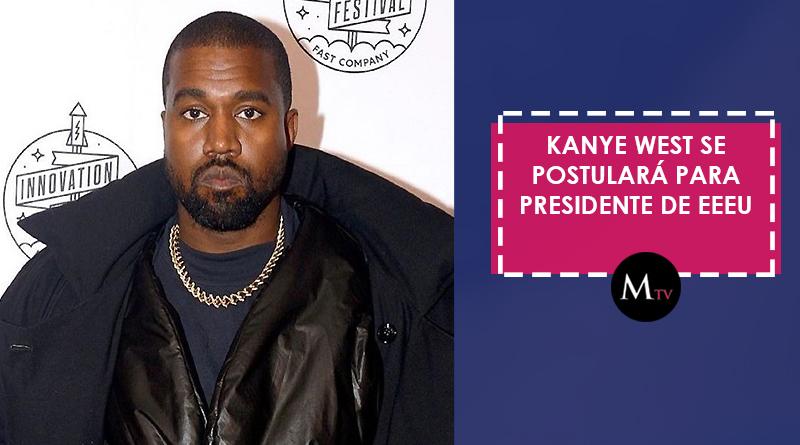 Kanye West se postulará para presidente de EEEU