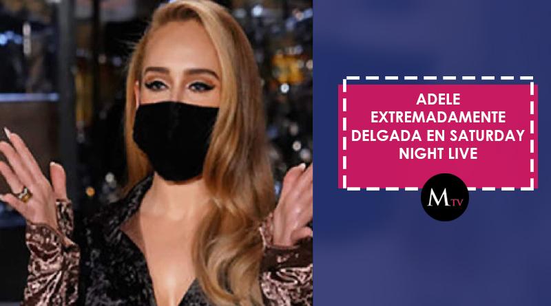 Adele extremadamente delgada en Saturday Night Live
